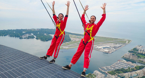 Uberflip Co-Founders Take #InMyFeelingsChallenge to Top of CN Tower