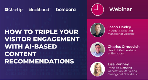 Webinar: How to 3X Engagement With AI-Based Content Recommendations
