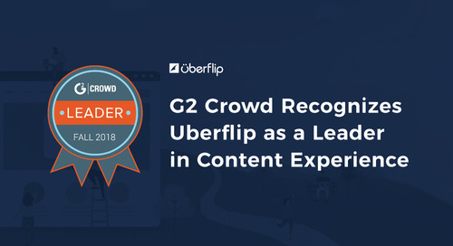 Uberflip Named a Leader in Debut G2 Crowd Grid for Content Experience