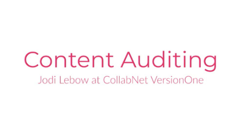 Content Audits with Jodi Lebow