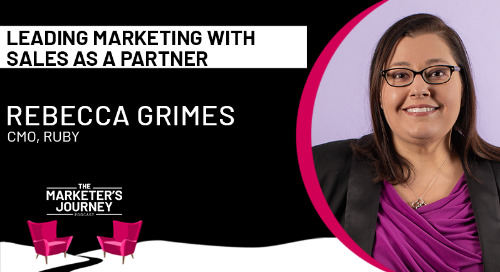 Leading marketing with sales as a partner [podcast]
