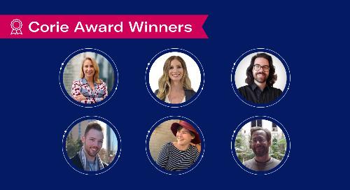 Congratulations to the Q3 2021 Corie Award Winners
