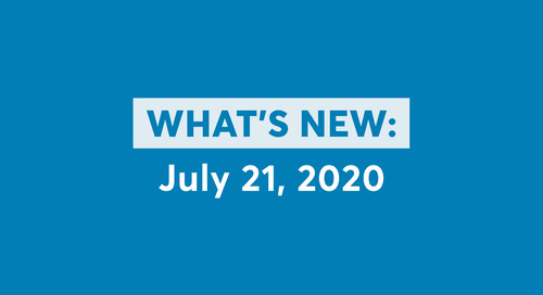 What's New: July 21, 2020 Software Updates