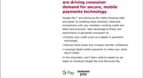 Google Pay and Samsung Pay Startup Guide