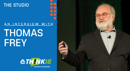 Thomas Frey Shares His Insights on Technology Trends at the THINK 18 Studio