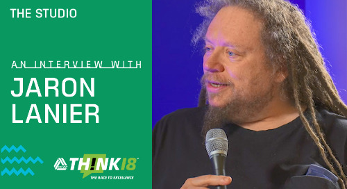 Jaron Lanier Speaks On the Challenges of AI at THINK 18 Studio