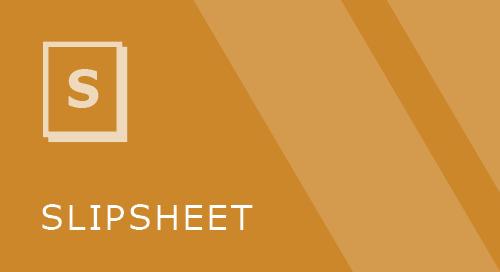 CO-OP Integration Slipsheet