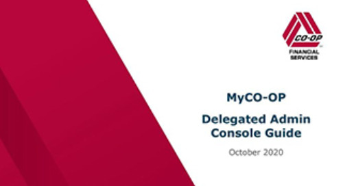 MyCO-OP Delegated Admin Console Guide