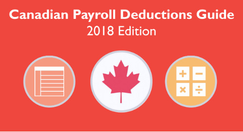 2018 Canadian Payroll Source Deductions