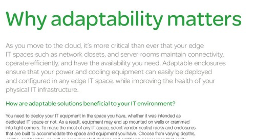 Tip Sheet - Why Adaptability Matters