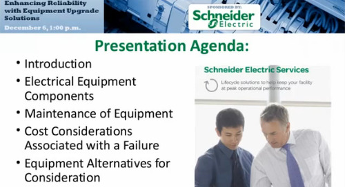 Webinar - Maintaining and Enhancing Reliability with Equipment Upgrade Solutions