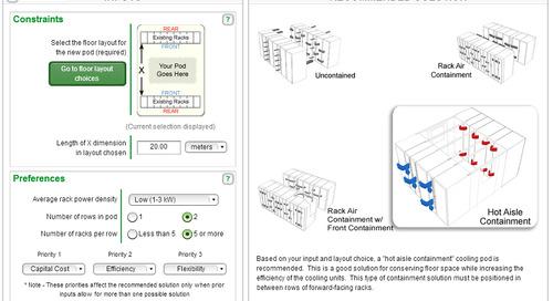 Data Center InRow Containment Selector