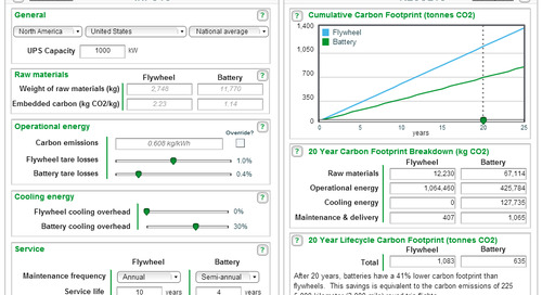 [Calculator] Flywheel vs. Battery Carbon Footprint