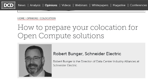 DCD Opinions: How to prepare your colocation for Open Compute solutions