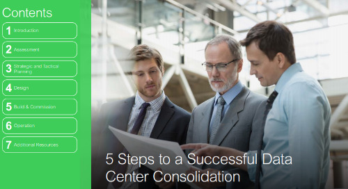 Five Steps to Data Center Consolidation