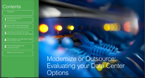 Modernize or Outsource: Evaluating your Data Center Options