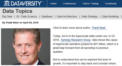 DATAVERSITY: Why Market Collaboration is Imperative in the Hyperscale Data Center Era