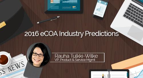 2016 eCOA Industry Predictions:  eCOA Innovations