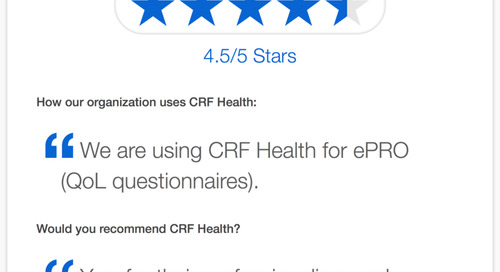 CRF Health Recommended for Flexibility and Professionalism