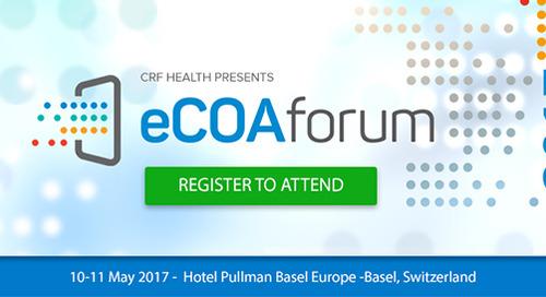 CRF Health Announces 2017 eCOA Forum in Basel, Switzerland