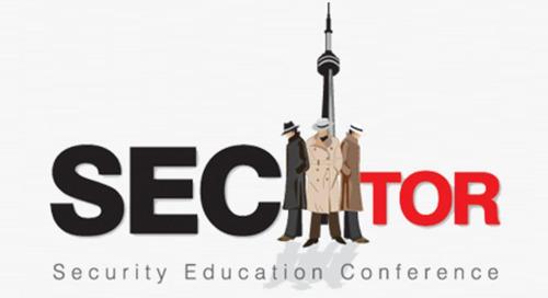 SecTor, October 1-3, 2018 - Toronto, Canada