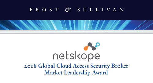 2018 Global Cloud Access Security Broker Market Leadership Award
