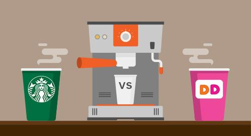 Email showdown: Starbucks vs. Dunkin' Donuts