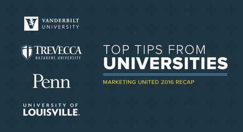 Class is in session: Lessons from top university marketers