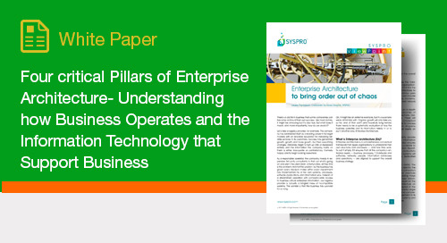 Four critical Pillars of Enterprise Architecture- Understanding how Business Operates and the Information Technology that Support Business