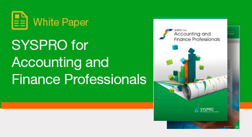 SYSPRO for Accounting and Finance Professionals
