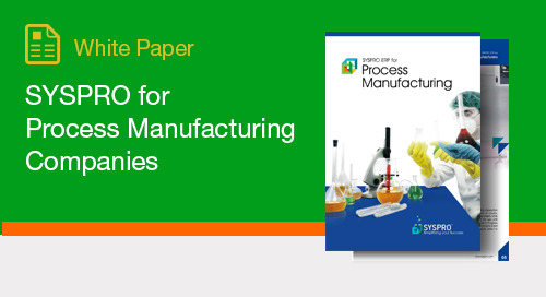 SYSPRO for Process Manufacturing Companies
