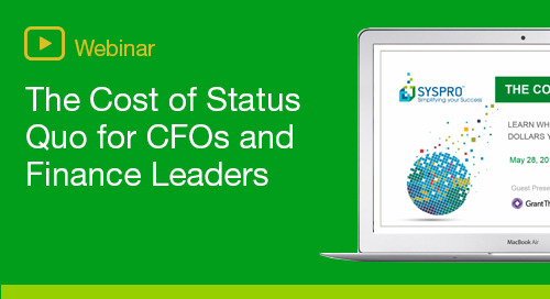 The Cost of Status Quo - for CFOs and Finance Leaders