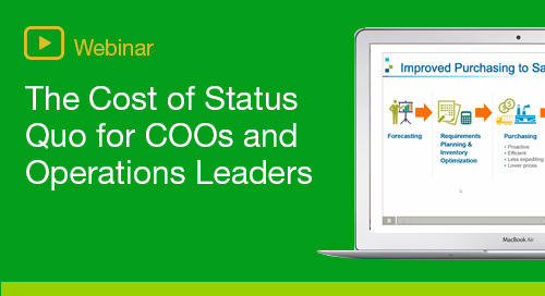 The Cost of Status Quo - for COOs and Operations Leaders