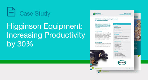 Higginson Equipment: Increasing Productivity by 30%