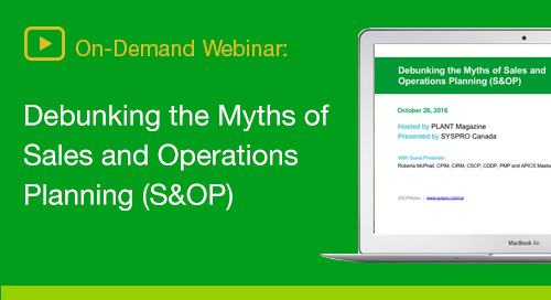 How S&OP can maximize your organization's performance excellence