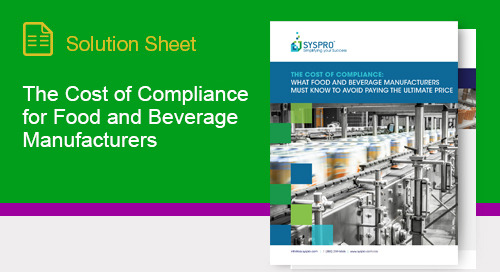 What food & beverage manufacturers must know to avoid paying the ultimate price