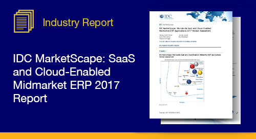 IDC MarketScape Worldwide SaaS and Cloud Enabled Midmarket ERP 2017 Report