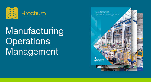 Manufacturing Operations Management