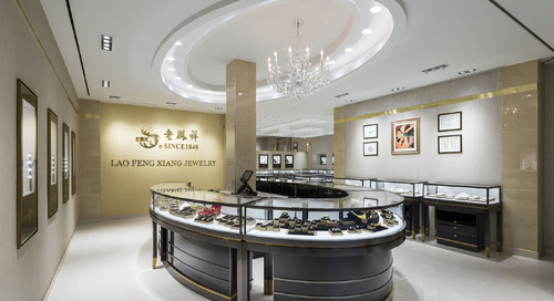Completely transforming Lao Feng Xiang Jewelry's space