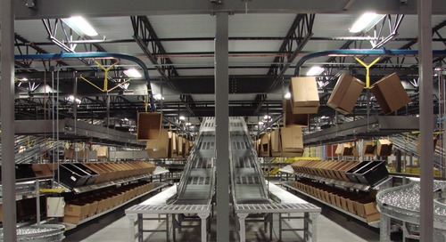 A new distribution center for a quickly growing clothing retailer
