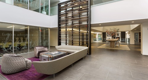 Designing upscale headquarters space to reflect upscale brands