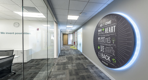 Developing a workplace with open space that enhances collaboration