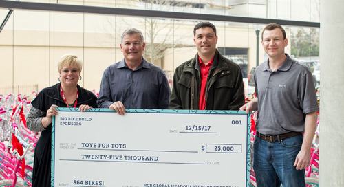 Atlanta PDS team helps build 1,000+ bikes for Toys for Tots