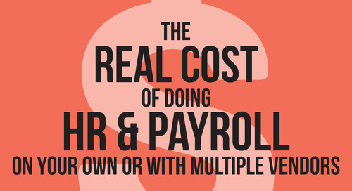 [INFOGRAPHIC] The Real Cost of Doing HR and Payroll on Your Own