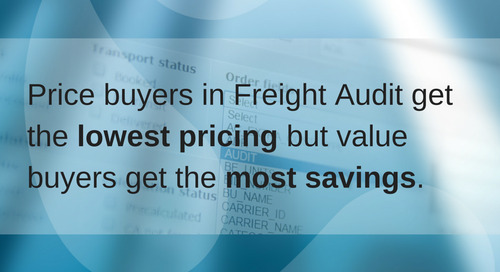 Cost drivers in Freight Audit