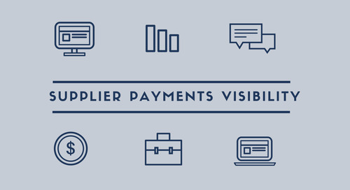 Supplier payments visibility, why is it important?