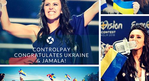 ControlPay congratulates Ukraine & Jamala!