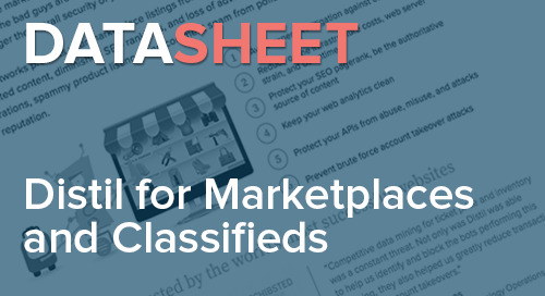 Distil Networks for Marketplaces and Classifieds | Data Sheet