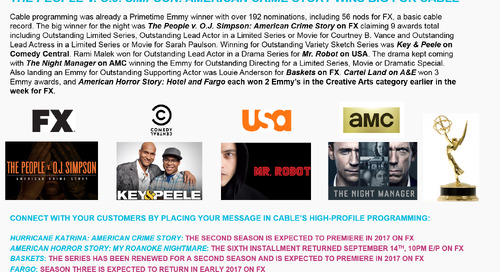 SMART BUY: Emmy Success for Cable