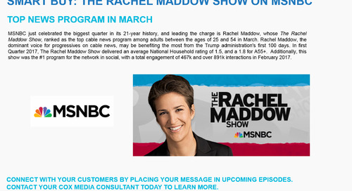 SMART BUY: The Rachel Maddow Show on MSNBC